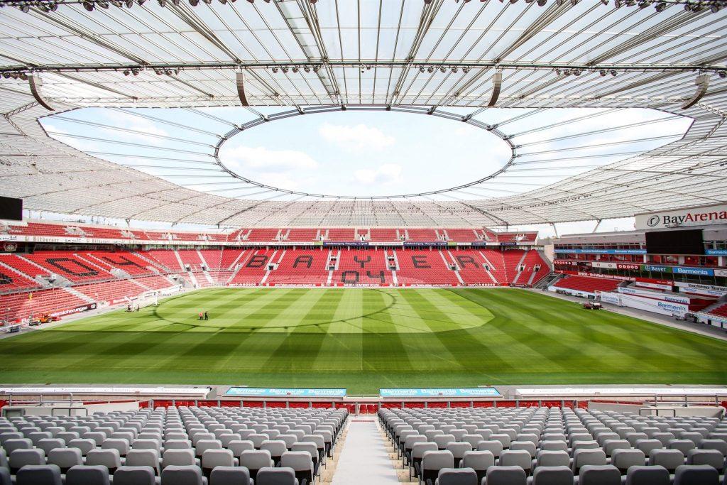 Blick ins Stadion von Bayer Leverkusen