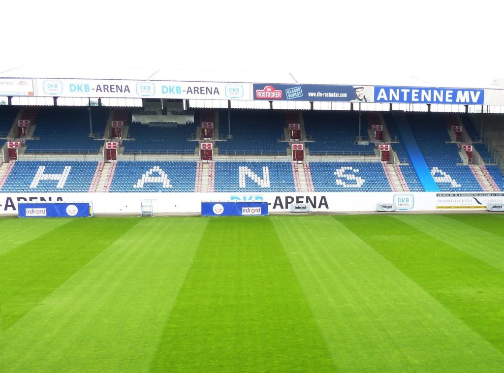 Leeres Stadion von Hansa Rostock
