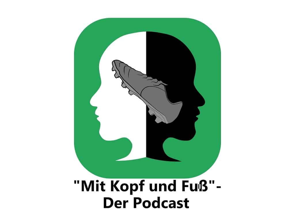"""Logo Podcast """"Mit Kopf und Fuß"""""""